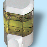 Szappanadagoló 0,35 literes - méret: 160x100x85 mm - füstszínű - 266x353 pixel - 40104 byte