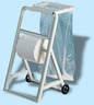 Mobil ipari papírtató - méret:910x470x515 mm 35cm átm.,40cm széles p.  - fehér - 536x600 pixel - 139308 byte