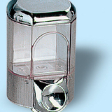 Szappanadagoló 0,35 literes - méret: 160x100x85 mm - króm - 323x375 pixel - 56710 byte