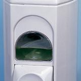 Szappanadagoló 0,35 literes - méret: 160x100x85 mm ablakos - fehér - 206x354 pixel - 20512 byte