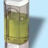 Szappanadagoló - 0,8 literes - méret: 250x100x85 mm - szín: füstszínű - 323x459 pixel - 49537 byte