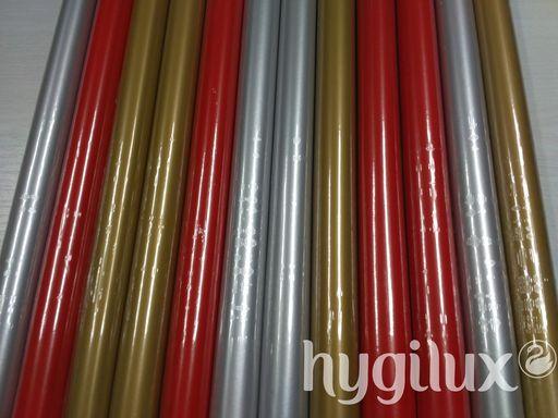 Karácsonyi csomagolópapír egyszínű, piros, arany, ezüst - 1024x768 pixel - 179212 byte