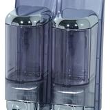Szappanadagoló 2x0,17 literes - méret: 170x80x120 mm dupla - króm - 444x600 pixel - 97454 byte