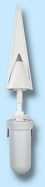 WC kefe falra szerelhető - méret: 72X150x450 mm - fehér - 146x600 pixel - 29342 byte