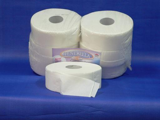 Nagyrollni papír 2 rétegű, tissue, átmérő 25 cm, mag átmérő 7,6 cm,100 % cellulóz,260 m/db, 6 db/csomag - 1024x768 pixel - 182887 byte