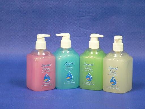 SANTAL folyékony krémszappan 0,5 l pumpás - kék-óceán, rózsaszín-lux, fehér-gyöngyvirág, zöld-zöldalma illatban - 1024x768 pixel - 220764 byte